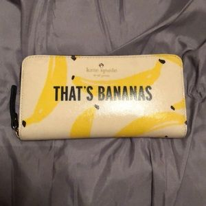 Kate spade bananas wallet